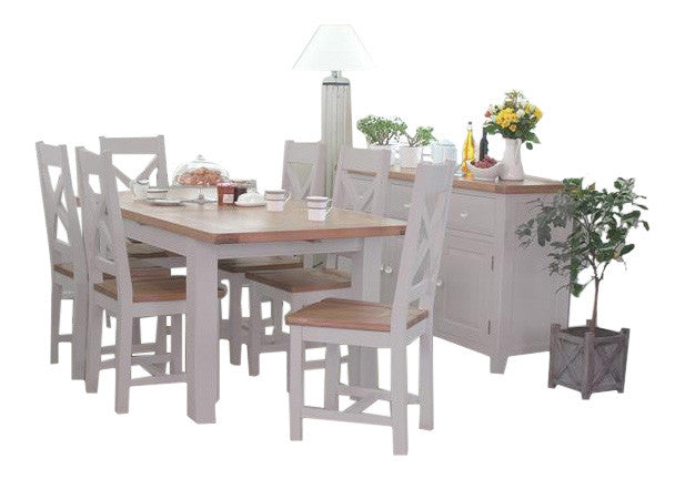 Clementine Grey Extendable Dining Set