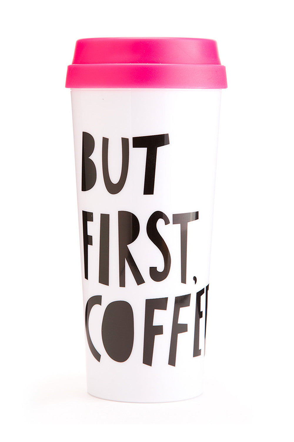 Hot Thermal Travel Mug- But First Coffee