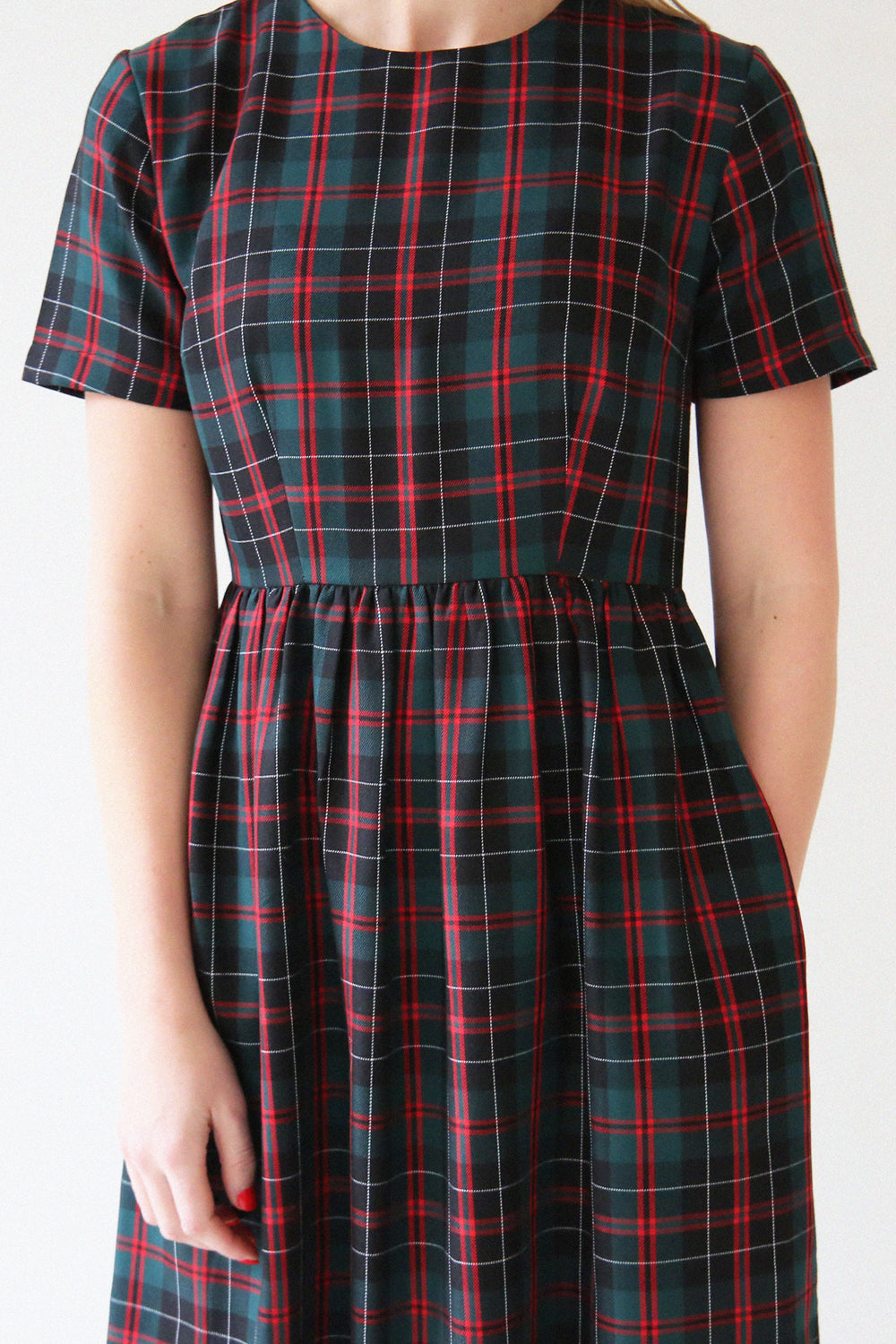 Alice Tartan Midi Skater Dress