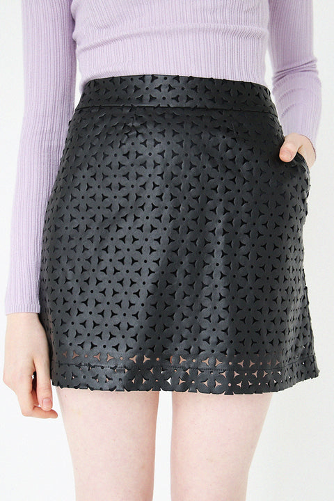 Demi Laser-cut PVC Skirt
