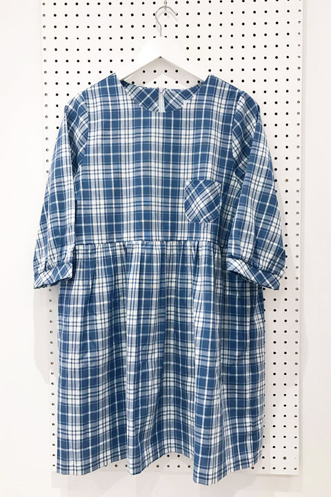 Lotty Blue Plaid Smock