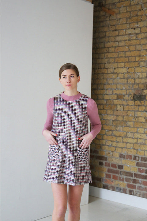 Lucy Pink and Purple Tweed Pinafore