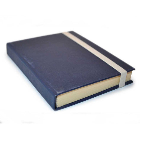 Navy Blue Book with Optional Elastic