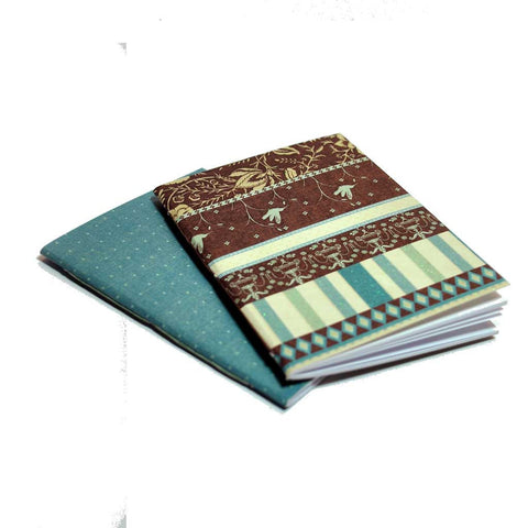 Mini Notebooks Blue & Brown
