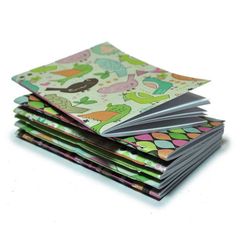 Mini Notebook Birds 6 Pack