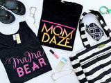 Mom Daze sunset ombre // Solid black tee