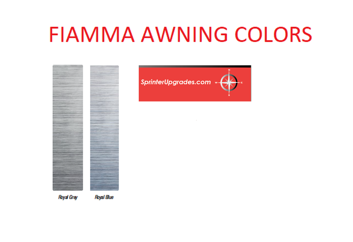 Fiamma Awnings For Sprinter 2007 To 2020 F65s Or F80s High