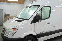 Silver cab window insulation covers for Sprinter Vans prodex