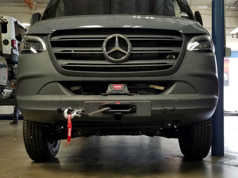 Sprinter front receiver and hidden winch