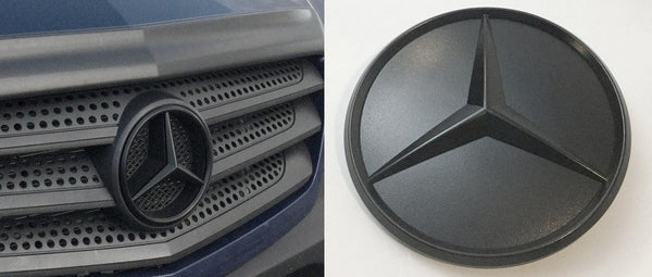 Both Emblems- Front Grill Emblem in Black and Rear Door Emblem in Black