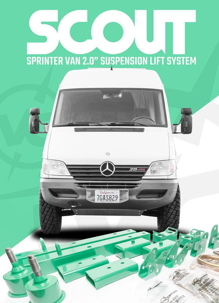 "2"" Sprinter Early Body Lift Kit"