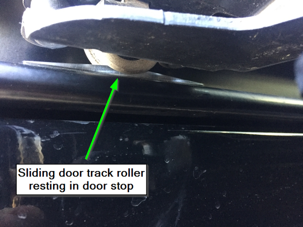 Example Photo for Sprinter Slider Door Stop Kit - may not be Sprinter