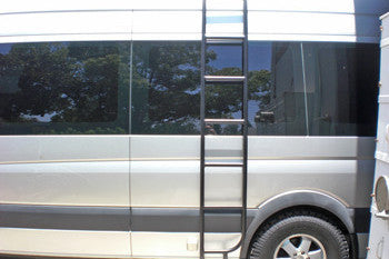 Sprinter ladder installed on drivers side passenger van