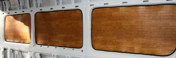 "Sprinter 170"" wb passenger van rear window insulation"