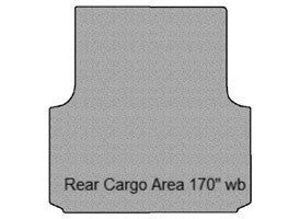 "Sprinter Rear Cargo Area Carpet Mat 170"" wb"