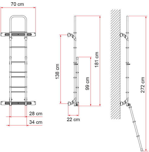 Sprinter rear door ladder specifications