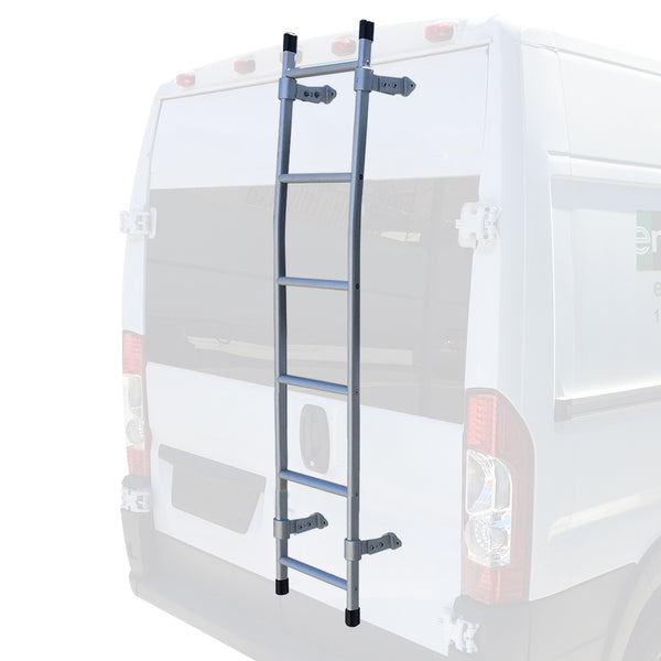 Sprinter rear door ladder silver