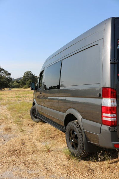"2"" lift installed on Sprinter 2500 2wd 07-up rear view"