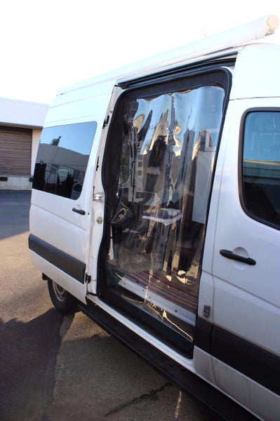 Sprinter slider door cold weather plastic door