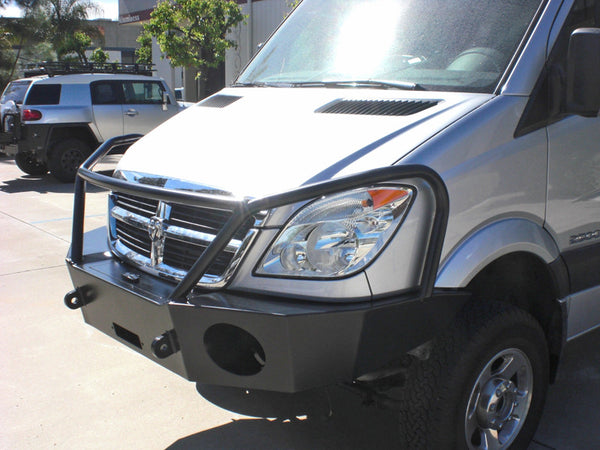 Sprinter front winch bumper side view