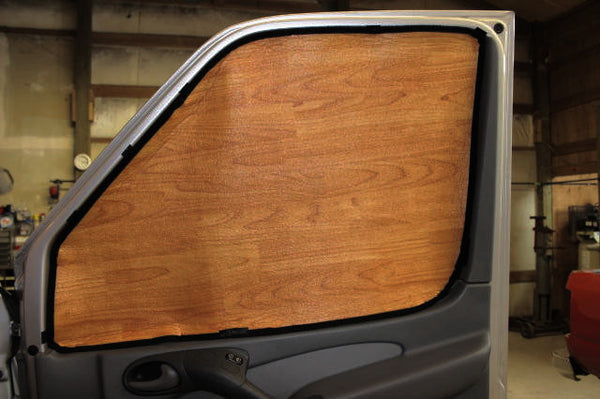 Sprinter driver and passenger window insulation