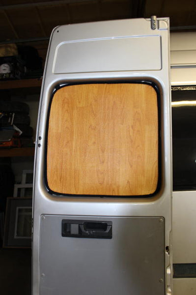 Sprinter rear door insulation light wood early body