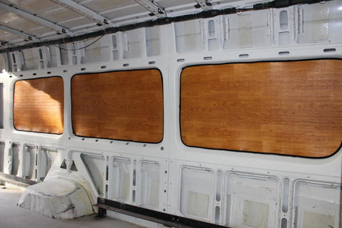 "Sprinter passenger van 170"" wb rear window insulation set in lt wood"
