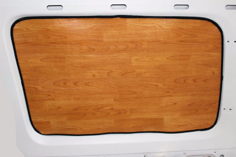 Sprinter cargo van window insulation panel light wood