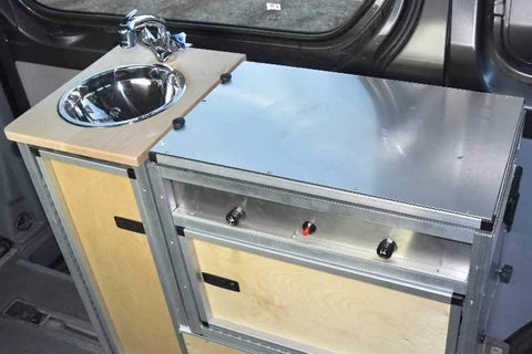 Sprinter Modular Van Kitchen Inside View