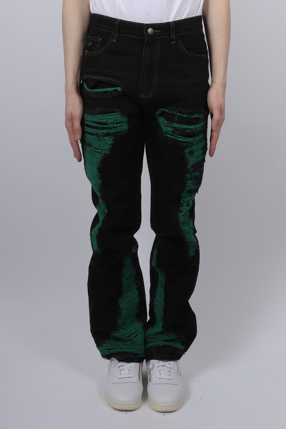 Who Decides War Green Monster Distressed Denim In Midnight