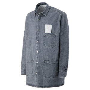 Load image into Gallery viewer, Padded Big Fit Denim Shirt In Dark Grey
