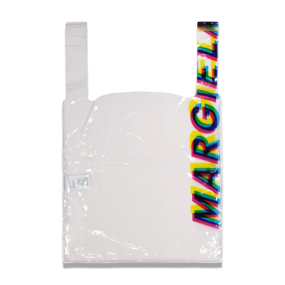 Maison Margiela Side Logo Shopping Tote In Transparent