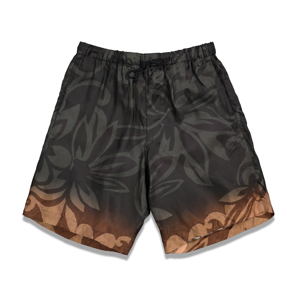 Dries Van Noten Piper Ombre Shorts In Black - CNTRBND