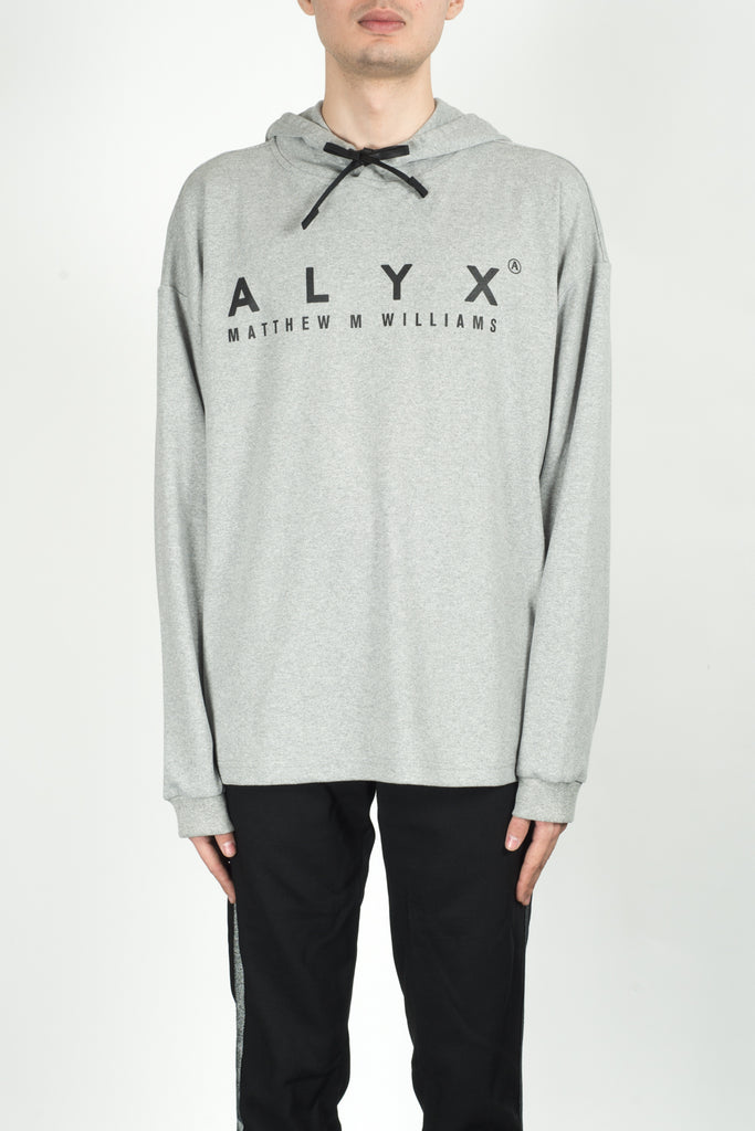 Alyx Hooded L/S Tee In Grey