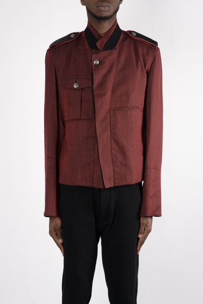 Ann Demeulemeester Kensington Jacket In Ruby/Black