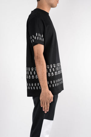 Load image into Gallery viewer, Les Benjamins Silver Tuareg Oversize T-Shirt In Black