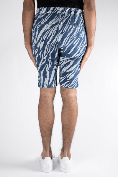 Les Benjamins Yeddes Denim Short In Blue