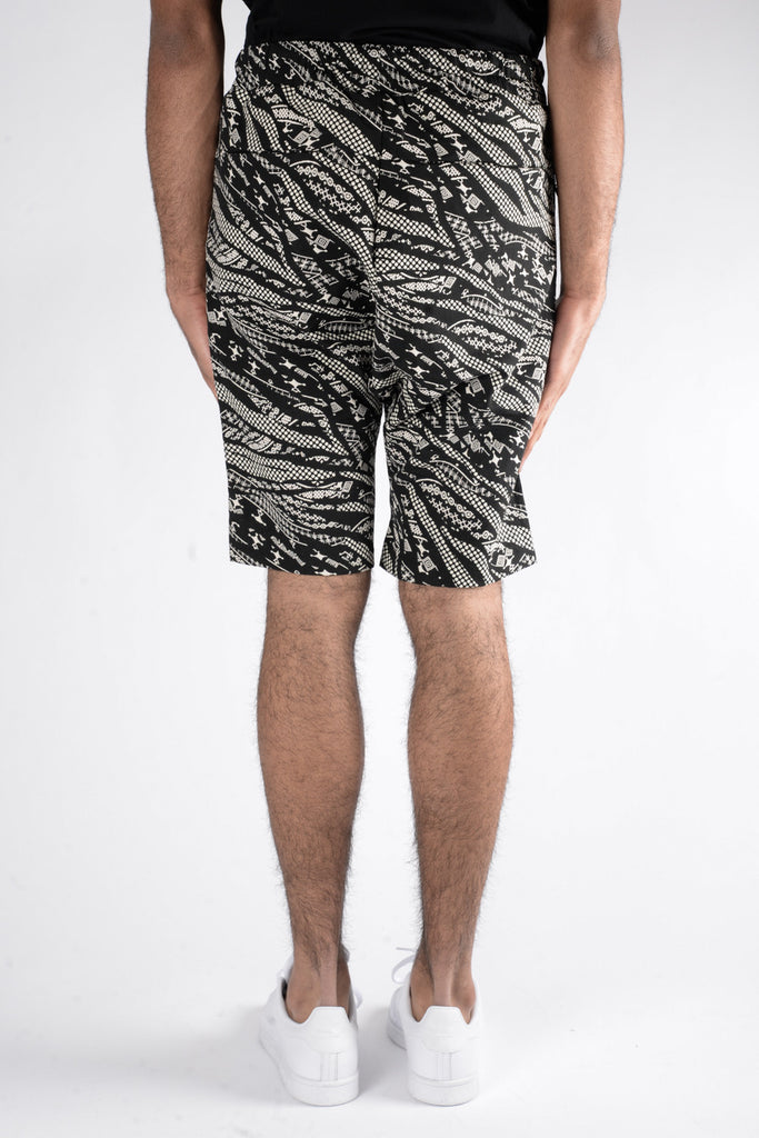 Les Benjamins Naravas Shorts In Black/White