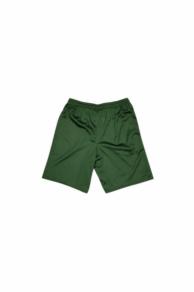 CNTRBND Logo Mesh Shorts In Forest