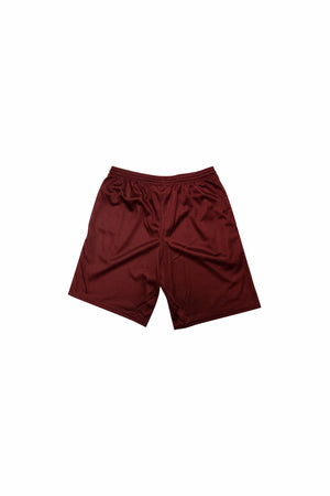 CNTRBND Logo Mesh Shorts In Maroon