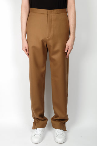 Ann Demeulemeester Waldo White Piping Trousers In Black