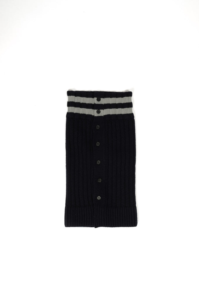 Jil Sander Knitted Collar In Navy