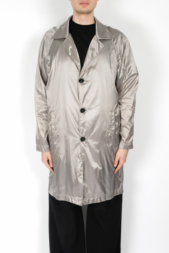 Raf Simons Classic Three Button Coat In Grey