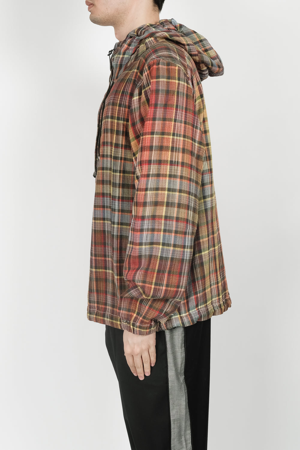 Missoni Half Zip Hooded Pullover In Plaid