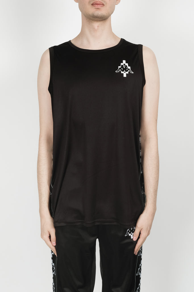 Marcelo Burlon Kappa Tape Tank In Black