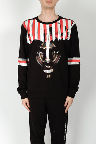 JW Anderson University Print Hoodie In Ruby