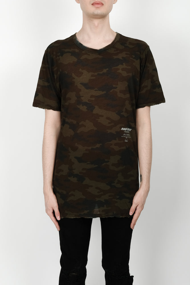 UNRAVEL Tour Skate Tee In Camo - CNTRBND