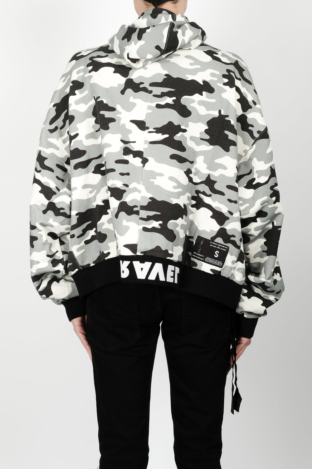 UNRAVEL Terry Rev Zip Hoody In Camo
