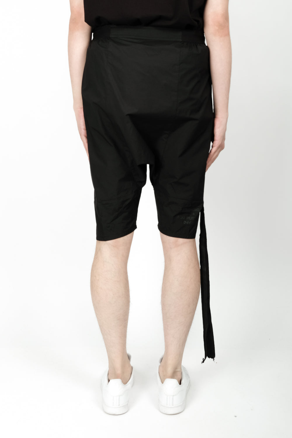 UNRAVEL Tech Drop Crotch Shorts In Black