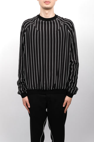 Haider Ackermann Anatase Stripe Silk Sweater In Black